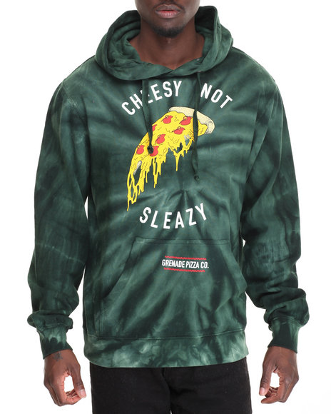 Grenade - Men Green Cheesy Not Sleazy Pullover Hoodie - $52.99