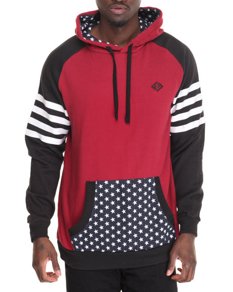 Enyce - Men Red Charlie Blackwood Pullover Hoodie