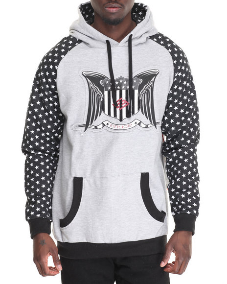 Enyce - Men Grey Merlin Well Pullover Hoodie
