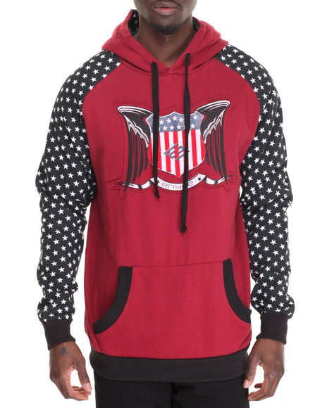 Enyce - Men Red Merlin Well Pullover Hoodie