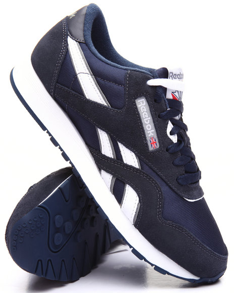 Reebok - Men Navy Classic Leather Nylon