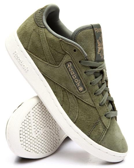 Reebok - Women Olive Npc Uk Premium Suede Sneakers
