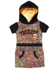 Girls - LEOPARD TRUKFIT DRESS (4-6X)