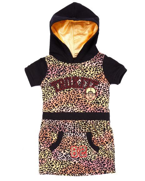 Trukfit Girls Leopard Trukfit Dress (46X) Animal Print 5