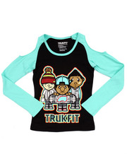 Tops - COLD SHOULDER TRUKFIT TEE (7-16)