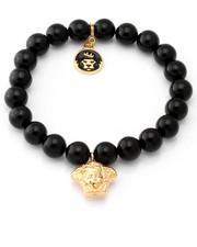 Accessories - 10mm Onyx Ball Bead Bracelet W/ Medusa Charm