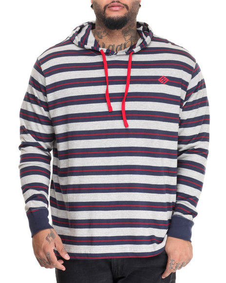Enyce - Men Grey,Navy L/S T-Shirt Hoodie (B&T)