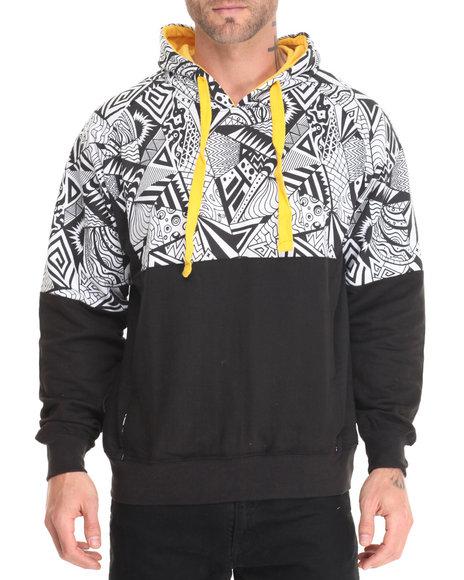 Basic Essentials - Men Black Radical Pullover Hoodie