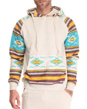 Basic Essentials - Aztec Trim Pullover Hoodie