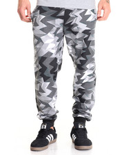 Basic Essentials - Crystal - Print Fleece Joggers