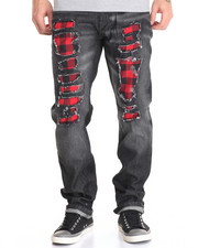 Basic Essentials - Buffalo Plaid - Trimmed Twill Pants