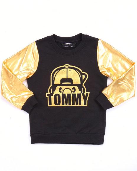 Trukfit - Girls Black Lil' Tommy Golden Sweatshirt (4-6X)