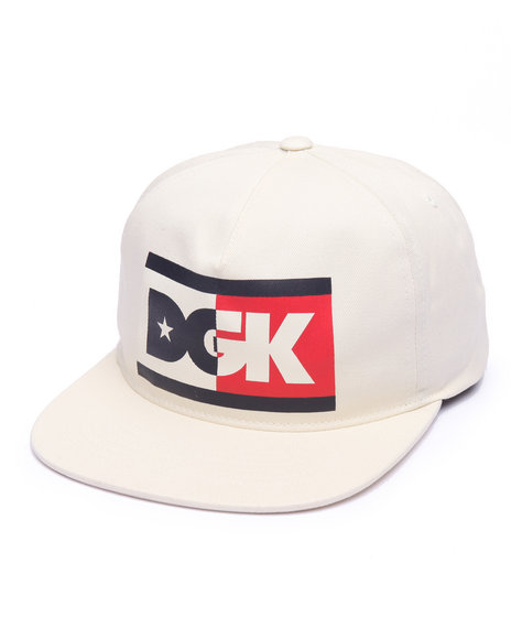 Dgk Men Anthem Snapback Cap Off White - $24.99