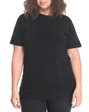 Women - Crew Neck Short Sleeve Sweater (plus)