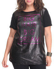 Fashion Lab - Big Hair Big Dreams Top (plus)