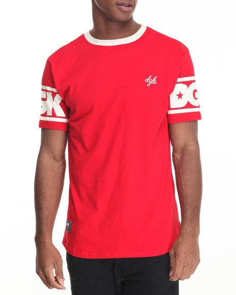 Dgk - Men Red Game Time Custom Knit Tee - $30.99