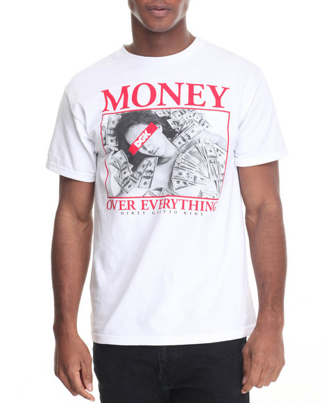 Dgk - Men White Money Over Everything Tee - $21.99