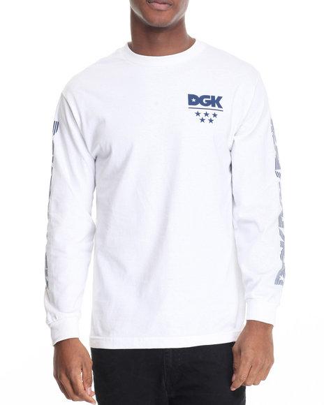 Dgk Men Division L/S Tee White XX-Large