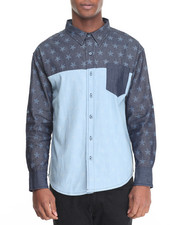 Button-downs - Denim Allover Star Buttondown