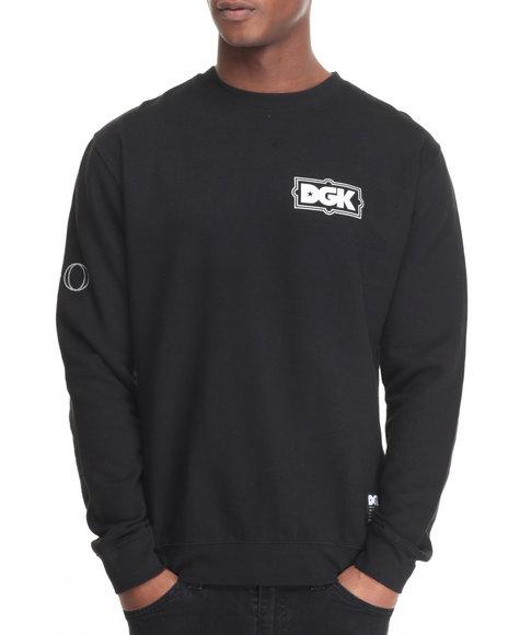 Dgk - Men Black Xo Crew Fleece Sweatshirt