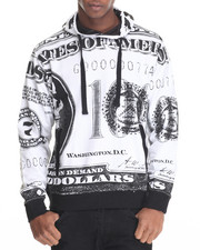 Hoodies - Dollar Bill Y'all Printed Fleece Pullover Hoodie