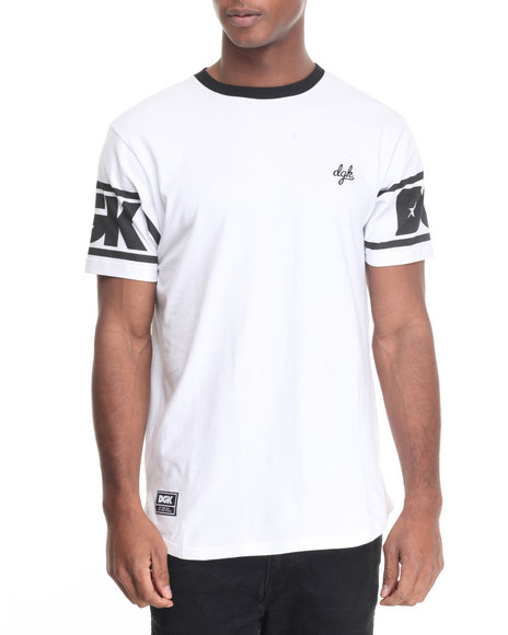 Dgk - Men White Game Time Custom Knit Tee - $30.99