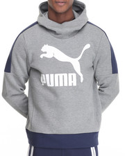 Puma - Logo Cowl Neck Pullover Hoodie