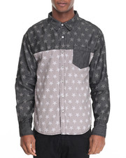 Buyers Picks - Acid Denim Allover Star Buttondown