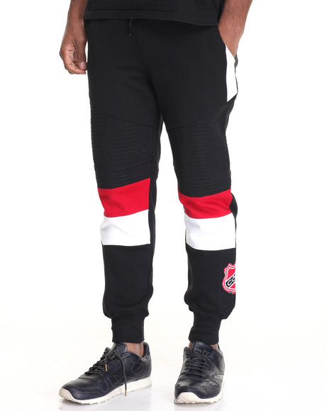 Cote De Nuits - Men Black Color Block Joggers