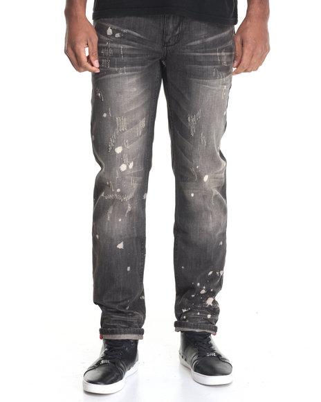 Buyers Picks - Men Black 5 Pocket Denim Pant W/ Novelty Wash