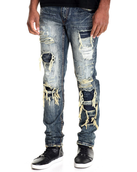 Heritage America - Men Medium Wash Heritage Denim Jeans - $88.00