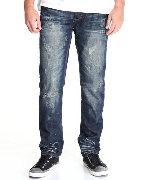 Buyers Picks - Men Dark Wash 5 Pocket Denim Pant W/ Novelty Wash