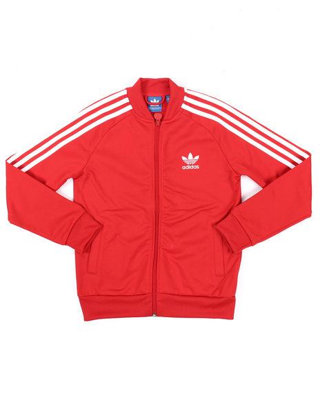 Adidas Boys Junior Superstar Track Jacket (820) Red Large