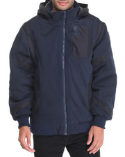 Outerwear - DISTANCE BALLISTIC NYLON-TRIMMED LINED FLEECE JACKET