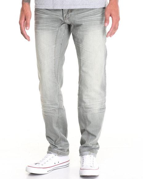 Buyers Picks Men Twist Seamed Denim Pant W Contrasted Zipper Back Light Wash 42x32