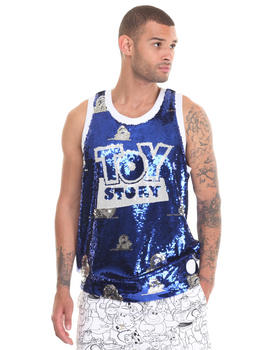 -FEATURES- - JR x Toystory galactic Sequin cloud tank