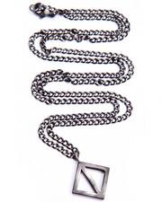 Men - Diamond Shape Charm Necklace