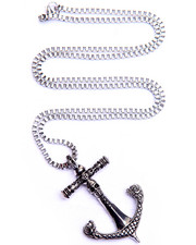 Jewelry & Watches - Skull Anchor w/ Mesh Chain