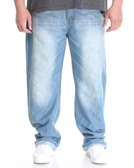 Basic Essentials - Men Medium Wash Ice Slim - Straight Denim Jeans