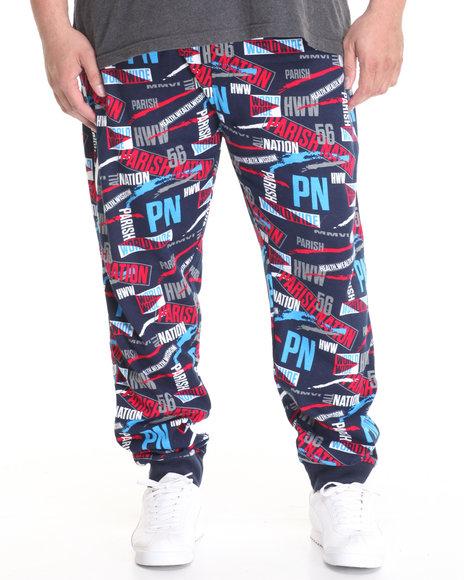 Parish - Men Navy Printed Sweatpant (B&T) - $55.99