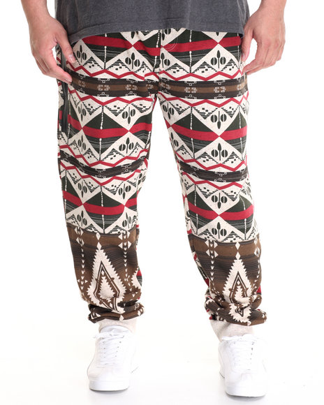 Parish - Men Khaki Printed Sweatpant (B&T)