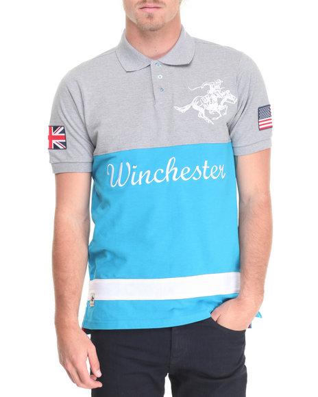 Winchester - Men Grey Franklin Cut & Sew Pique Polo