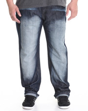 Basic Essentials - Aged Blue Smoke Slim - Straight Denim Jeans