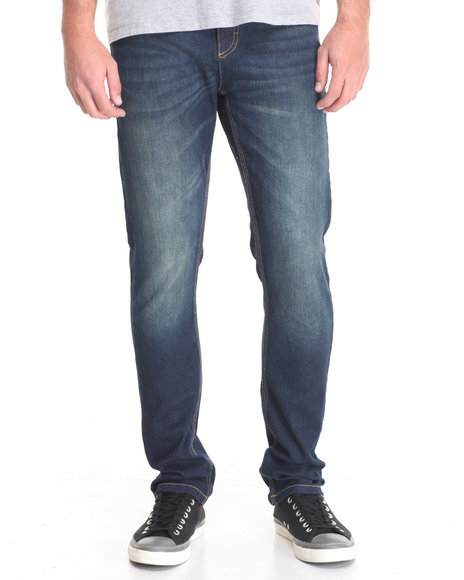 Buyers Picks - Men Medium Wash Slim Rinsed Denim Jeans