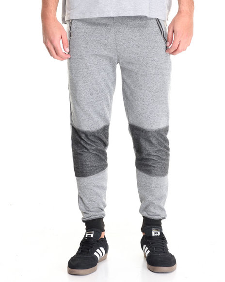 Buyers Picks - Men Grey Marled Contrast Jogger