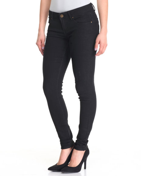 Basic Essentials - Women Black Wash Rebel By Right Curvy Fit Skinny Jean