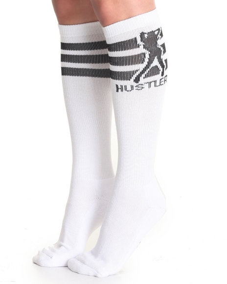 Hustler Lingerie Women Knee High Socks Black 911