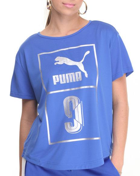 Puma - Women Blue Foil Logo Top