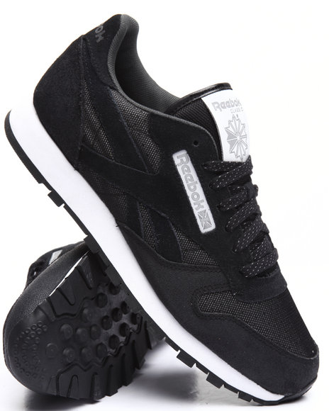 Reebok - Men Black C L Leather Reflect
