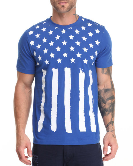 Winchester - Men Blue Ford American Flag T-Shirt